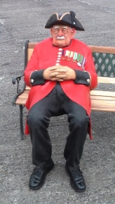 Chelsea Pensioner by sculptor Richard Austin