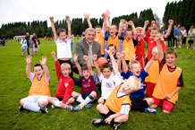 Sir Trevor Brooking visits the Charlsetown Youth Football Club
